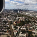 NYC skyline from the plane flying into LGA