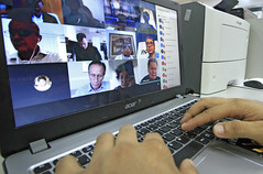 13.08.2020 Prefeito participa de reuniâo por videoconferência