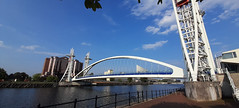 Photo of 13th August 2020, The Lowry Footbridge, Salford Quays, Greater Manchester