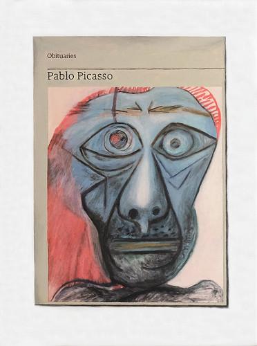 Hugh Mendes 'Obituary: Pablo Picasso' Oil on linen 40x30cm 2018