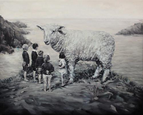 Concha Martinez Barreto 'S/t 8' Oil on canvas 40x50cm 2017