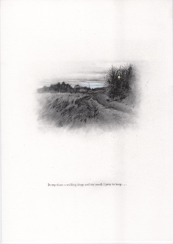Barry Thompson 'Returning' Pencil & charcoal on paper 29.7x21cm 2020