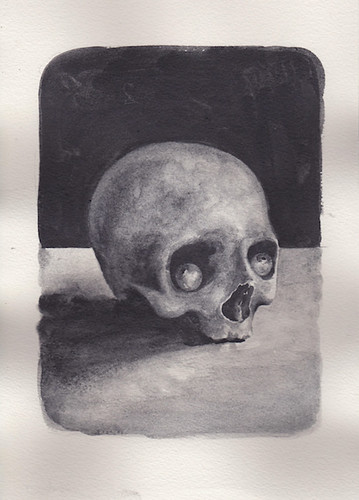 Richard Moon 'Done to Death' Water soluble graphite on paper 30x21cm 2020