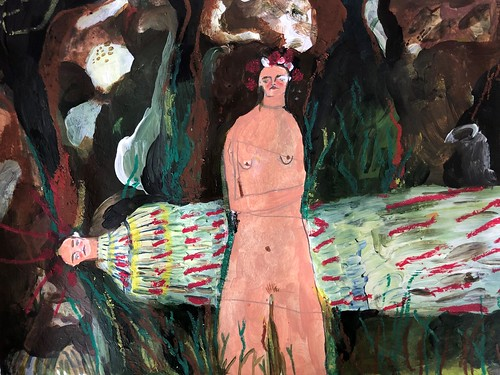 Melissa Kime 'Sacrificed May Queen' Acrylic, watercolour, oil pastel, coloured pencil on paper 24x30cm 2020