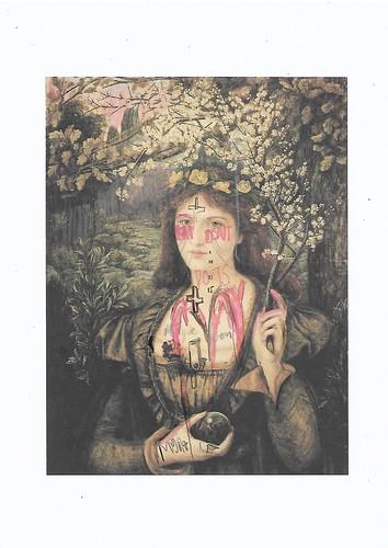 Sam Jackson 'Chronicles 158-X' Spray paint, ink, pencil on paper 29.7x21cm 2020