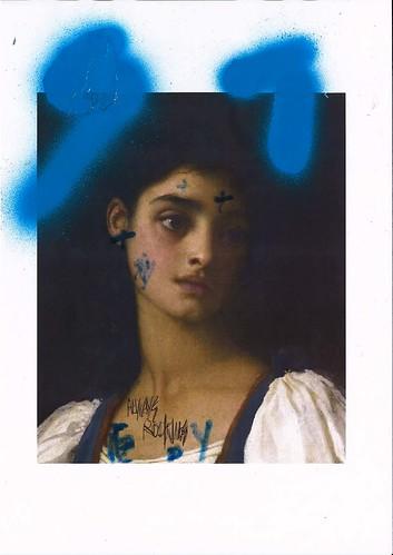 Sam Jackson 'Chronicles 1-X' Ink & spray paint on paper 29.7x21cm 2020