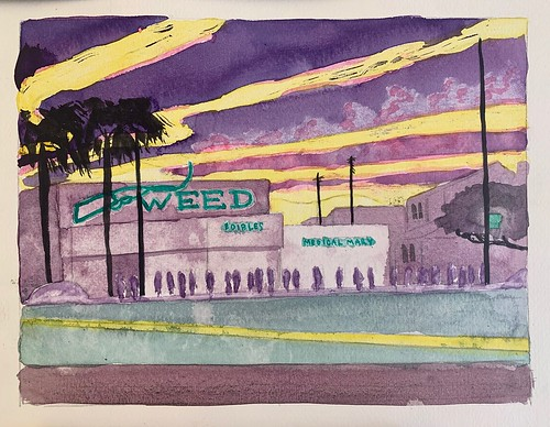 David Risley 'Weed Store 1' Watercolour on Fabriano paper 23x31cm 2020