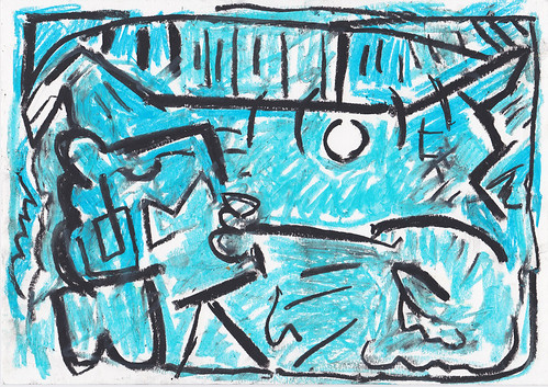 Kiera Bennett 'Studio 3' Oil pastel on paper 21x29.7cm 2020