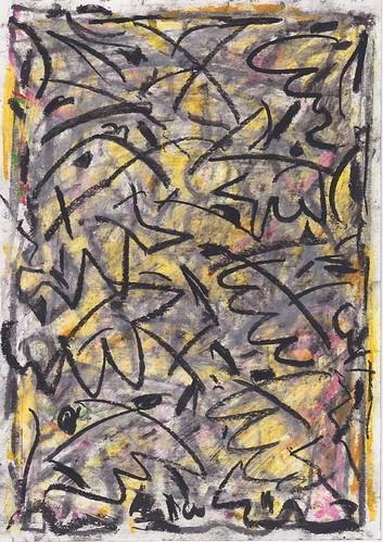 Kiera Bennett 'Insomnia and Wishing 6' Oil pastel on paper 29.7x21cm 2020
