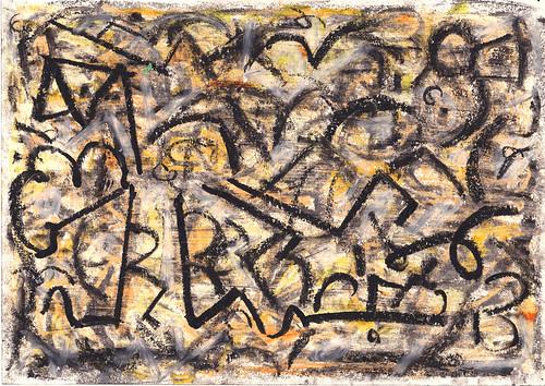 Kiera Bennett 'Broken Tree 12' Oil pastel on paper 21x29.7cm 2020