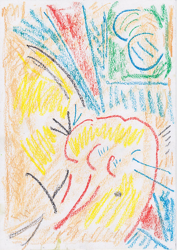 Kiera Bennett 'Melodrama' Oil pastel on paper  29.7x21cm 2020
