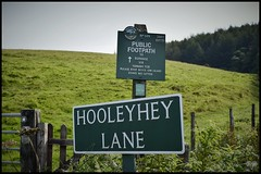 Photo of Public Footpath No189.Hooleyhey Lane,Rainow/Saltersford,Cheshire.