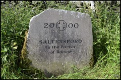 Photo of Millennium Stone,Saltersford,Rainow,Cheshire.