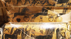 Kleitias and Ergotimos, François Vase, detail with chariot race organized by Achilles to honor Patroclus