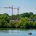 Construction Cranes - New Building Development Project - Robbinsdale at Crystal Lake