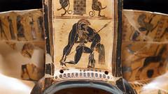 Kleitias and Ergotimos, François Vase, detail with Ajax carrying the fallen Achilles