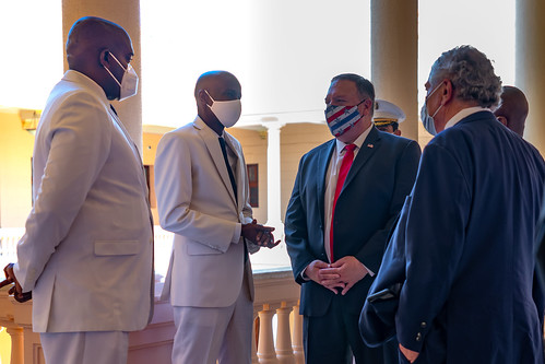 Pompeo Meets with Haitian Dictator Jovenel Moise, From FlickrPhotos