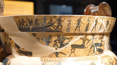 Kleitias and Ergotimos, François Vase, detail with Athenian Youth freed from the Minotaur