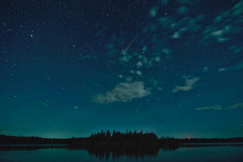 Meteors over Red Rock Lake