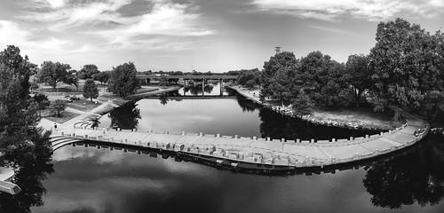 Celebration Bridge and Concho River - 84MP Panorama