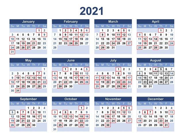 2021年月曆範本-6