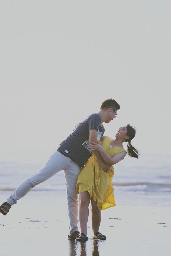海邊,自助婚紗,便服婚紗,自然風格,生活風格,底片,台北,婚紗攝影師,情感,溫度