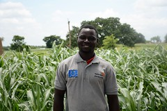 Atinga Joel, one of the sucessful FMNR farmers who now trains other farmers in different communities