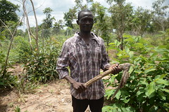 Mr. Mbawin in his farm at Farik