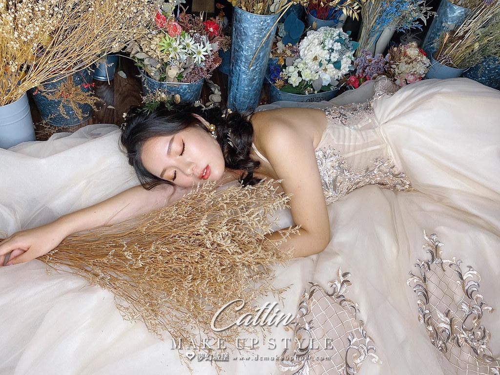 【新秘Catlin】新娘造型創作 / 日系乾燥花