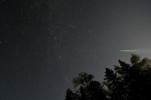 Comet NEOWISE and a perseids meteor