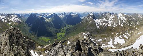 Panorama frå Store Smørskredtind