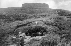 Photo of Holy well, and the hillfort Grianan of Aileach, Inishowen peninsula, Co. Donegal, Ulster, Ireland