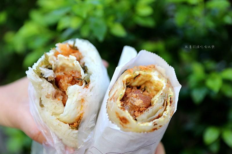 上順興香Q飯糰台北東區隱藏巨無霸飯糰早餐蔥油餅飯糰121