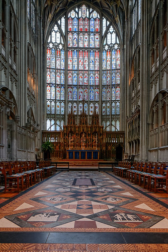 The Great East Window, Gloucester Cathedral, City of Gloucester, Gloucestershire