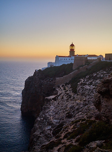 Lighthouse of Cabo de São Vicente at sunset - Sagres (Vila do Bispo) - Algarve - Portugal