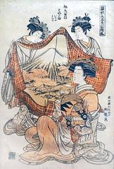 """Une courtisane de la maison Asahimaruya"" d'I. Koryusai (Musée Guimet / MNAAG, Paris)"