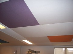Fabric Wrapped Acoustic Ceiling Panels