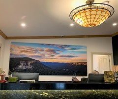 Serenity Art Panel in Hotel Reception