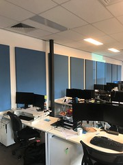 Serenity Wall Panels to reduce noise in Office