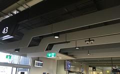 Hanging Baffles in Departure Lounge Sontext