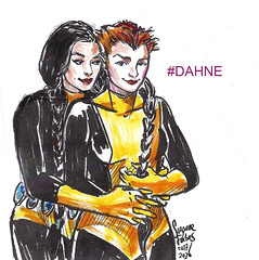 Maisie Williams as Rahne and Blu Hunt as Dani 2020 by Suzanne Forbes