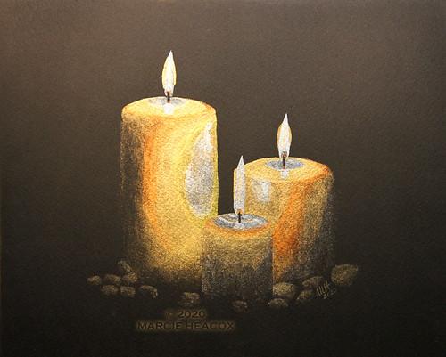 Candles - Original Watercolor Painting