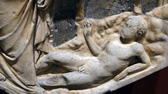 Andrea Pisano, Creation of Adam, detail of Adam