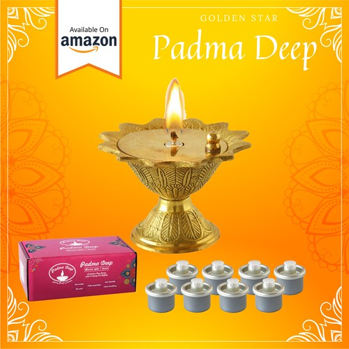 Padma Deep Lamp | Diya Lamp | Golden Star