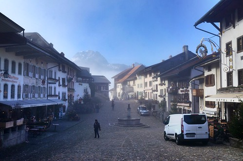 Foggy Morning in Gruyères, Switzerland