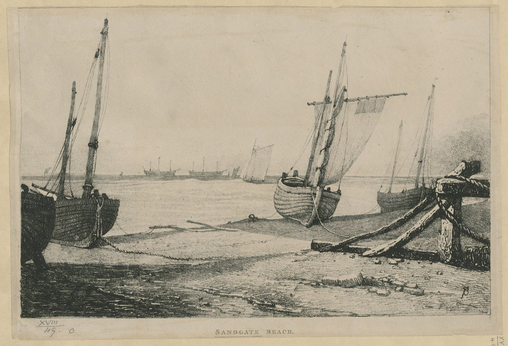 """The BL King's Topographical Collection: """"Sandgate Beach."""""""