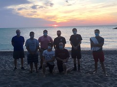 Sunset at Presque Isle with the seminarians and priests of St. Mark Seminary – August 14, 2020.