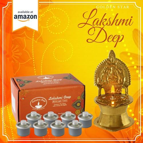 Goddess Lakshmi Deep Lamp | Lakshmi puja | Diya Lamp | Golden Star