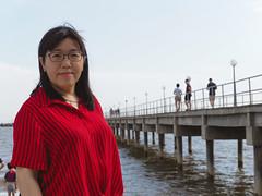 Agnes at Tanjung Sepat Lovers Bridge4