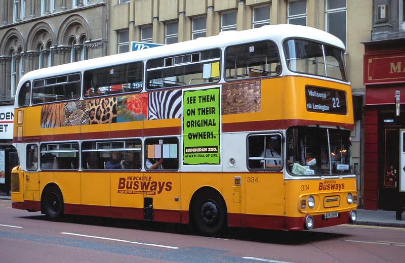 AVK154V Newcastle Busways 334 Grainger Street
